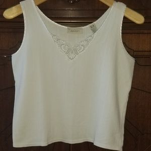 Lord & Taylor Vintage 100% cotton crop tank